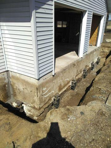 Push Piers Installed in Sparta, WI - After Photo