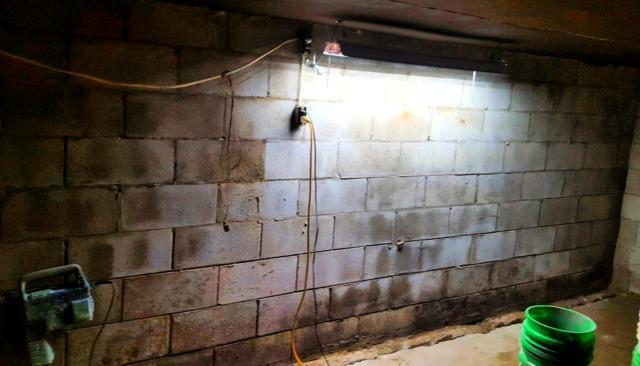 Unfinished Basement Waterproofed in Prior Lake, MN