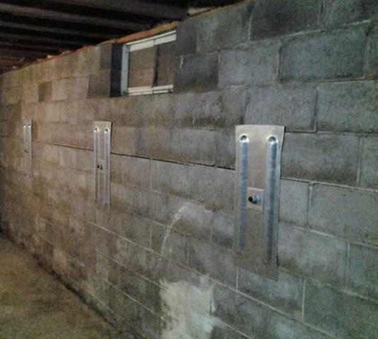 Wall Anchors Stabilize Wall in Eastman, WI