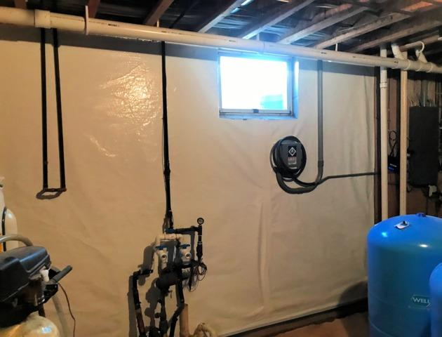 Basement Waterproofed in Adrian, MN - After Photo