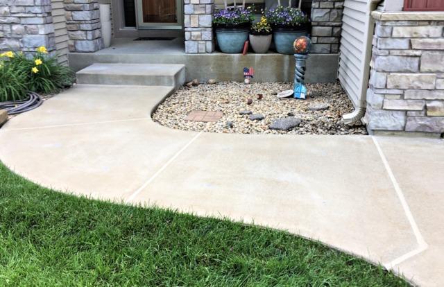 Concrete Walkway Leading to Porch Repaired in Farmington, MN