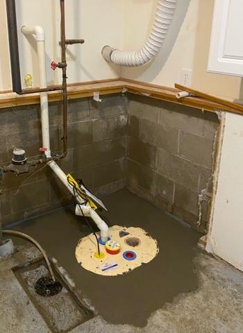 Half Wall Demo and Sump Pump Replaced in Sartell, MN
