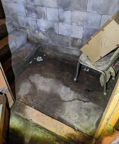 Basement Stair Landing Waterproofed in Lidgerwood, ND