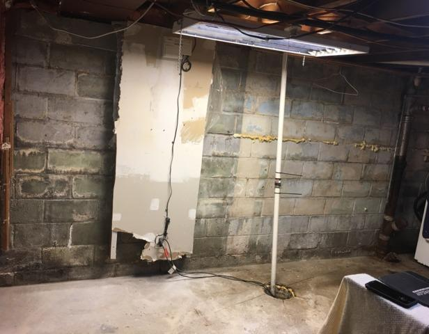 Anchors Repair Foundation Wall in Clear Lake, IA