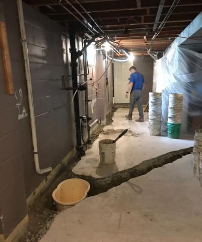 Leaking Basement Waterproofed in Northfield, MN