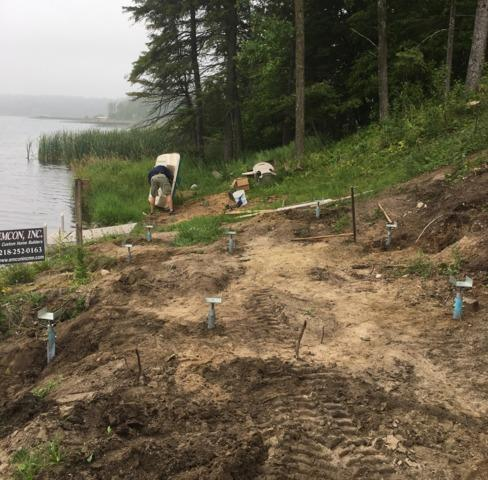 Foundation Helical Piers Installed Before House Construction
