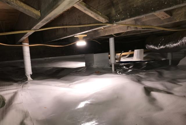 Wet Crawl Space Sealed in Dassel, MN