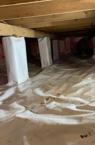 Crawl Space Sealed in Vergas, MN