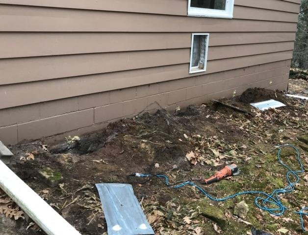 Cracked Foundation Wall in Tomah, WI - Before Photo