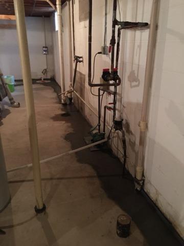 Basement Waterproofing System Installed in Shakopee, MN