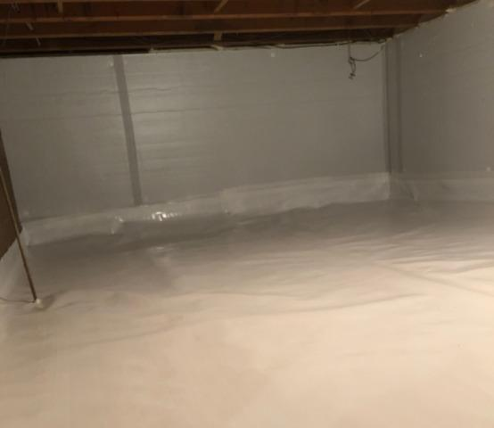 Crawl Space Encapsulation in Brownsville, MN - After Photo