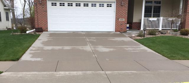 Concrete Driveway Repaired in Holmen, WI