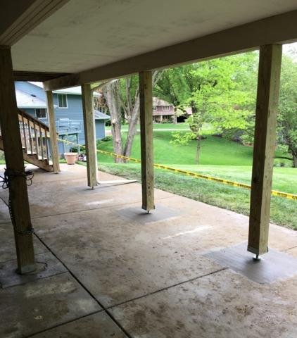 Helical Deck Piers Installed in Chanhassen, MN