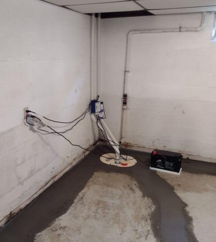 Wet Basement Waterproofed in New Hampton, IA