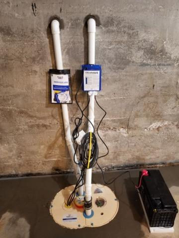 Sump Pump Installed in Waterville, IA
