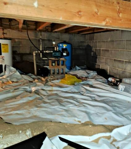 Crawl Space Encapsulation in Holcombe, WI - Before Photo