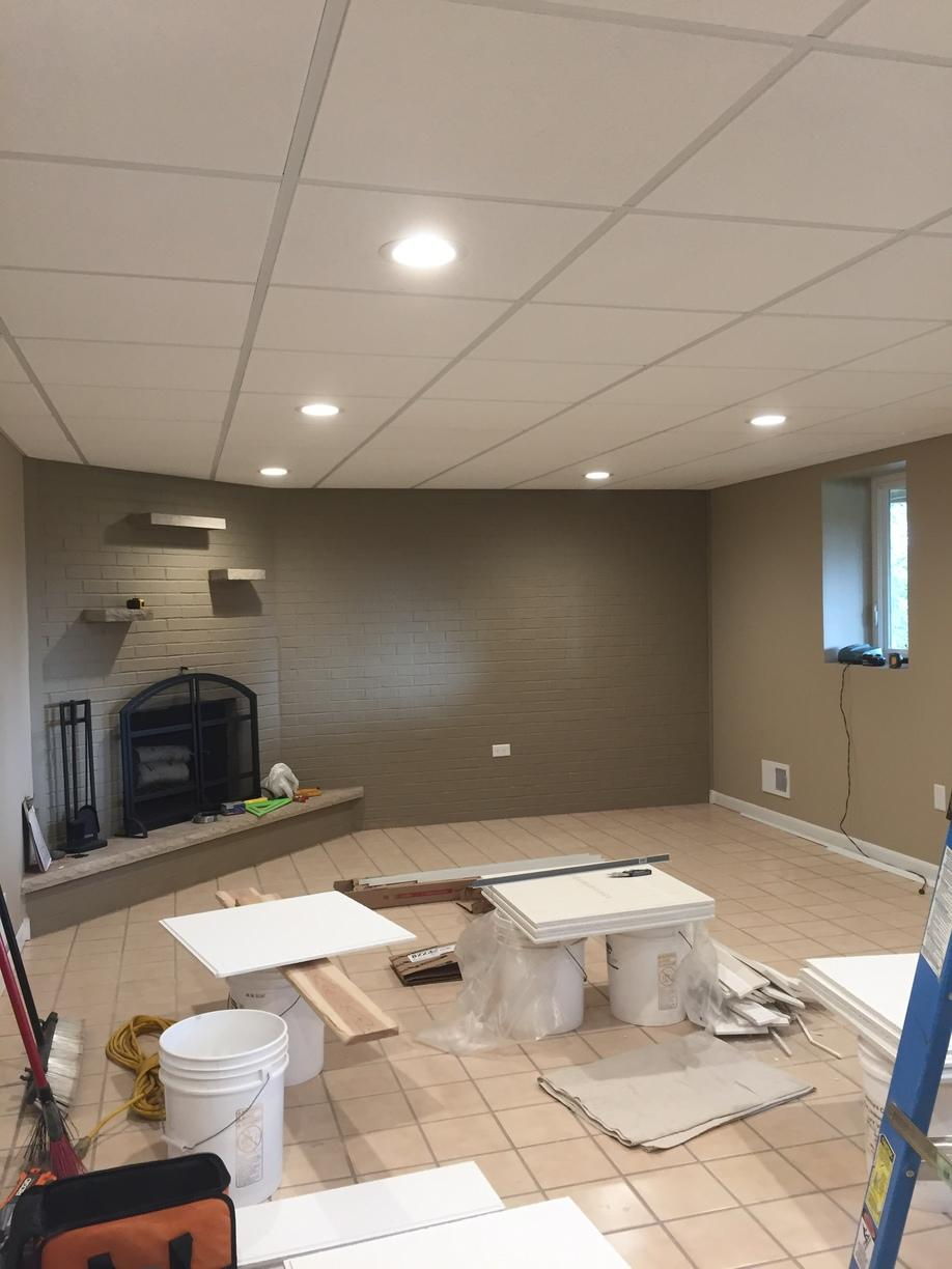 What a difference a ceiling can make! - After Photo