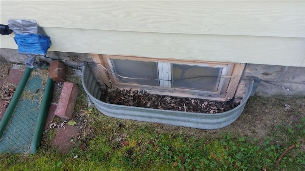 Window Well Installation in Augusta, Wisconsin - Before Photo