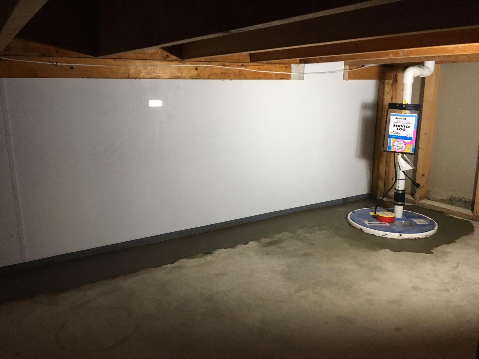 Waterproofing a storage area in Jefferson WI - After Photo