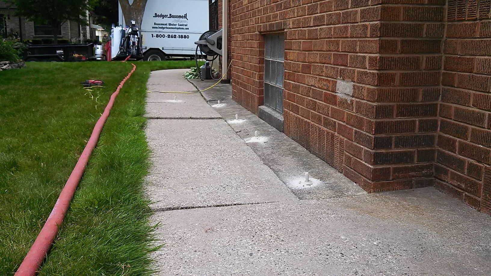 Concrete Lifting - Before Photo