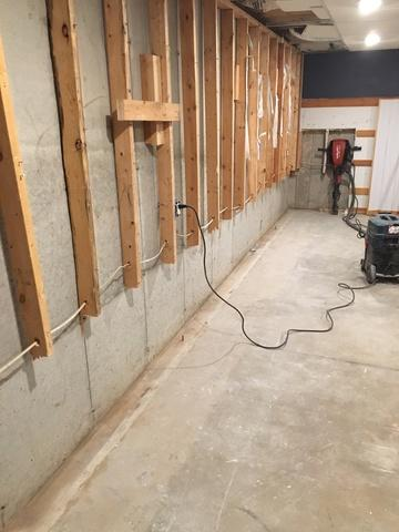 Water in a finished basement is never good - Before Photo