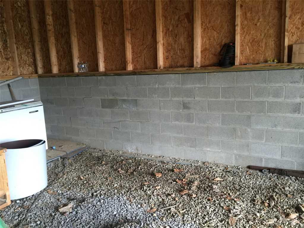 Wall Anchor Installation in Homer City PA - Before Photo
