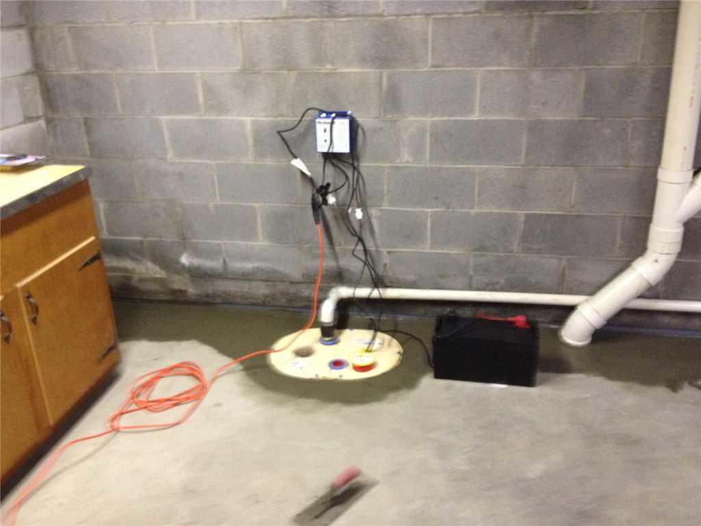 Garage Water Leak Repair in Hopwood PA - After Photo