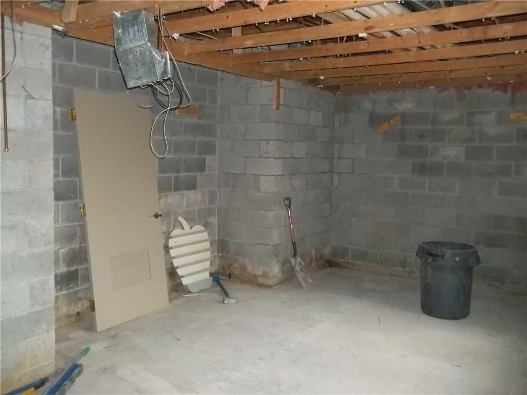 Basement Waterproofing at Nemacolin Woodlands Resort in Farmington, PA - Before Photo