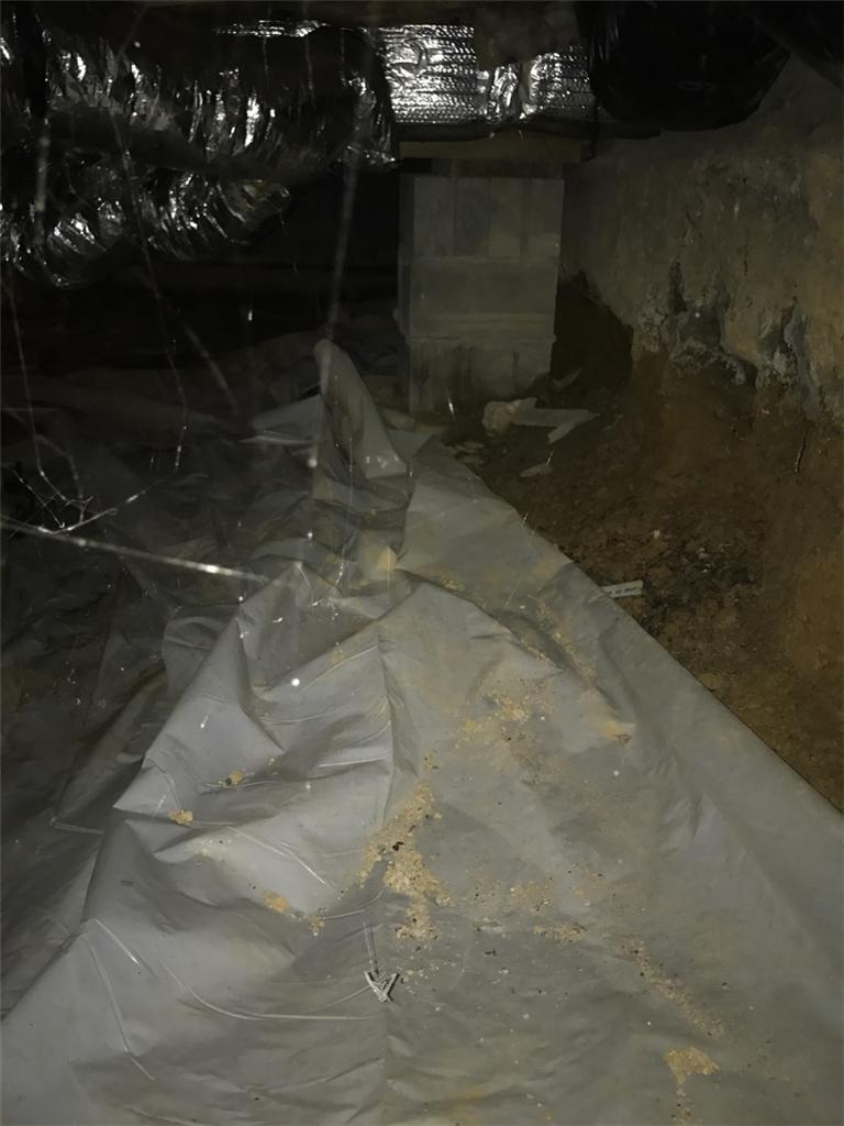 Crawl Space Encapsulation in Farmington, PA - Before Photo