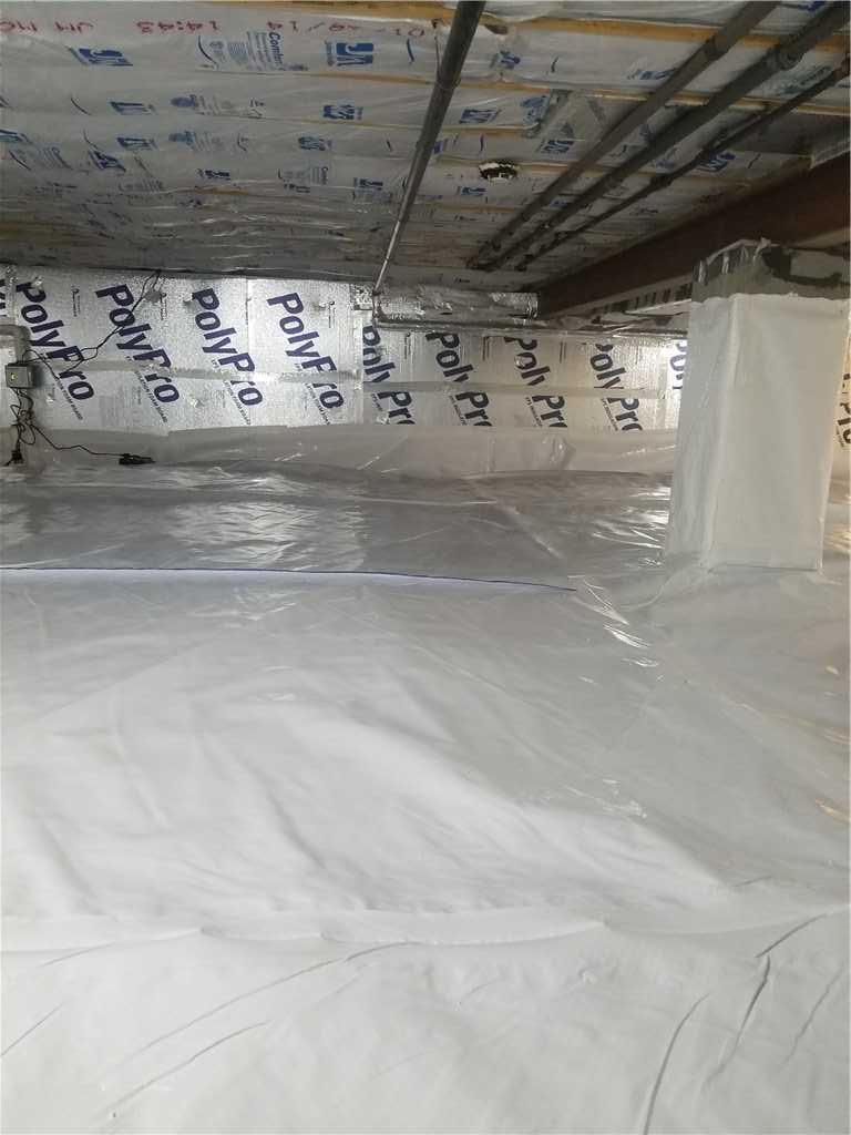 Fixing Crawl Space Leakage in Shadyside, OH - After Photo