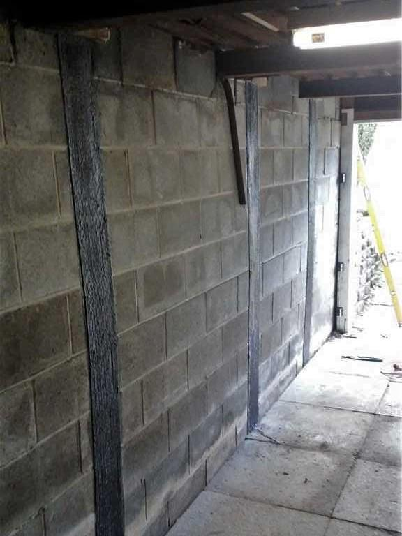 Carbon Fiber Straps Repair a Bowing Wall in Davidsville, PA - After Photo