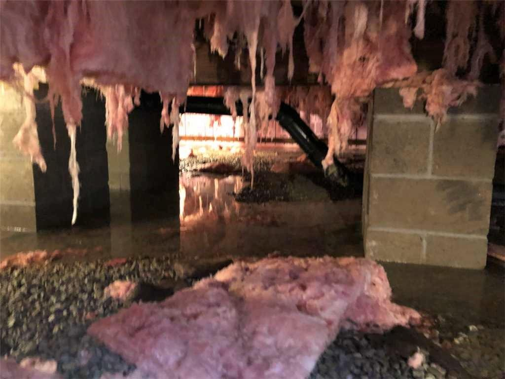 Wet Crawl Space Repair in Normalville, PA - Before Photo