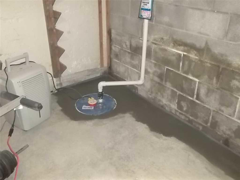 Basement Drain and Sump Pump in Champion, PA - After Photo