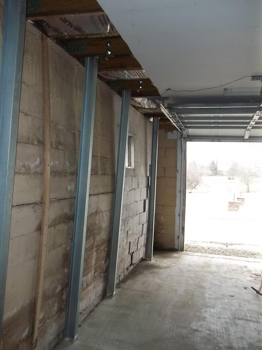 Garage Foundation Repair in Connellsville, PA - After Photo