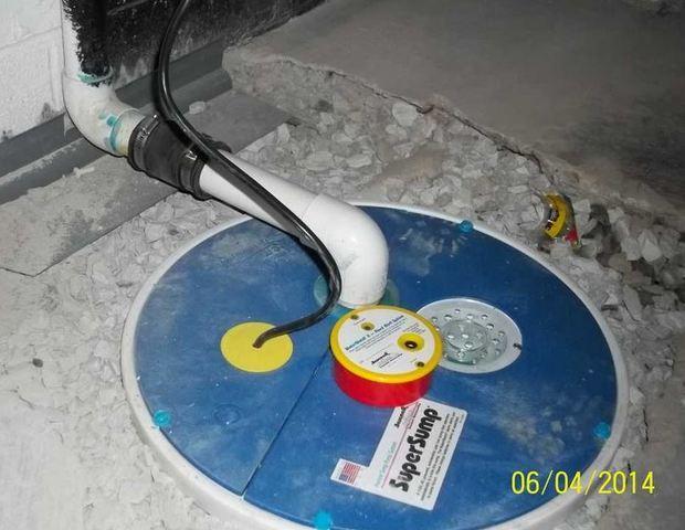 WaterGuard Installation in Washington, PA Basement