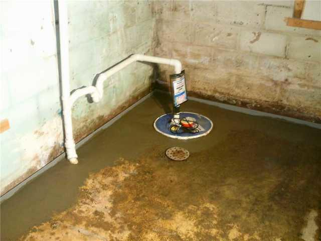 Interior French Drain and Sump Pump Installation in Avella PA