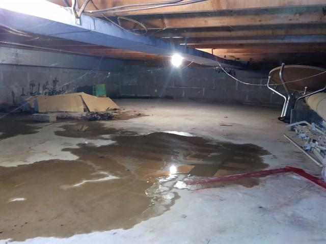 Crawl Space & Garage Wall Repair