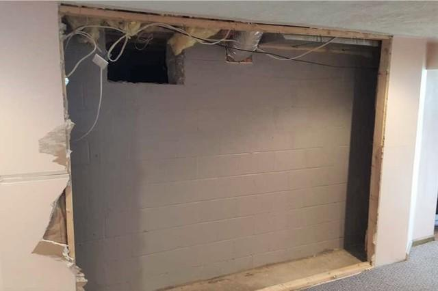 House Bump Out Caused Leaning Basement Wall in Evans City, PA