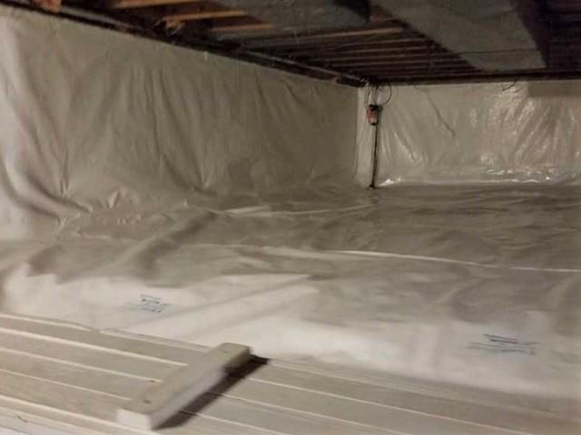 Crawl Space Vapor Barrier and Floor Insulation in Monroeville, PA