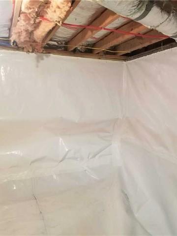 Full Perimeter Crawl Space Waterproofing in Proctor, WV