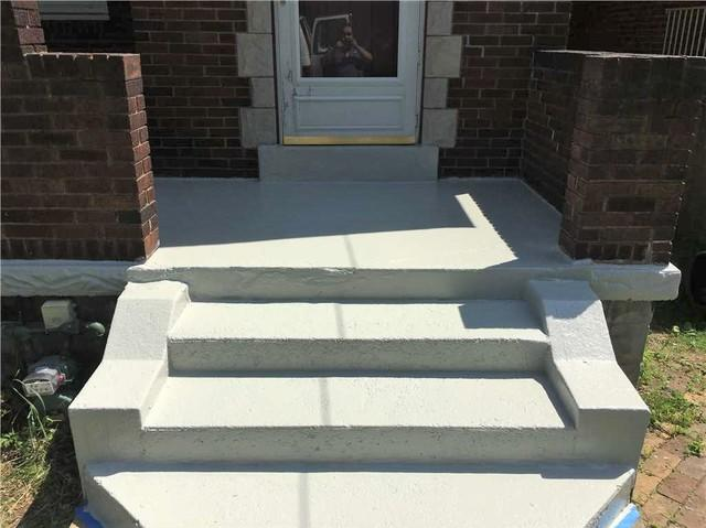 Fixed Wet Basement Area by Stopping Concrete Porch Leaks in Pittsburgh, PA