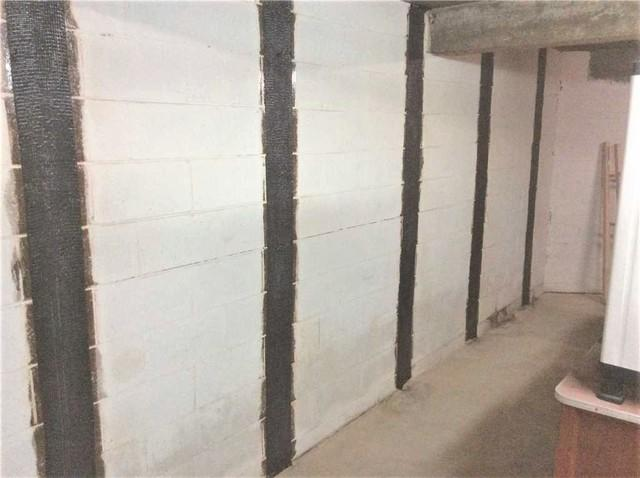 Bowed Wall Repair with Carbon Fiber Straps in Uniontown, PA