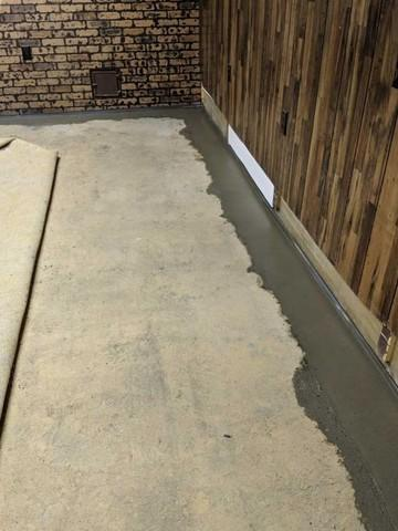 Partial Perimeter Basement Waterproofing System in Uniontown, PA