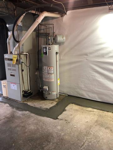 Full Perimeter Basement Waterproofing System in Pittsburgh, PA