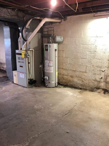 Full Perimeter Basement Waterproofing System in Pittsburgh, PA - Before Photo