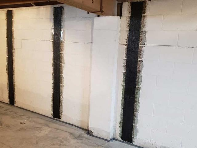 Waterproofing and Bowed Wall Repair with Carbon Fiber Straps in East Butler, PA