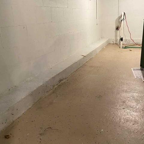 Partial Basement Waterproofing in Portersville, PA