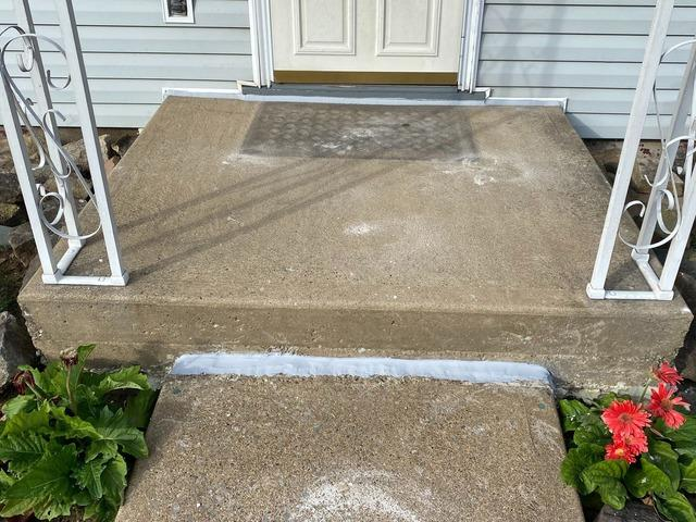 Concrete Porch Lifted in Latrobe, PA