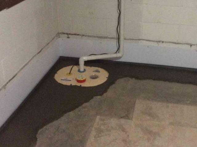 Partial Basement Waterproofing in Bradfordwoods, PA