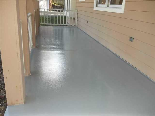Waterproofing Seal Applied to Porch in Wexford, PA